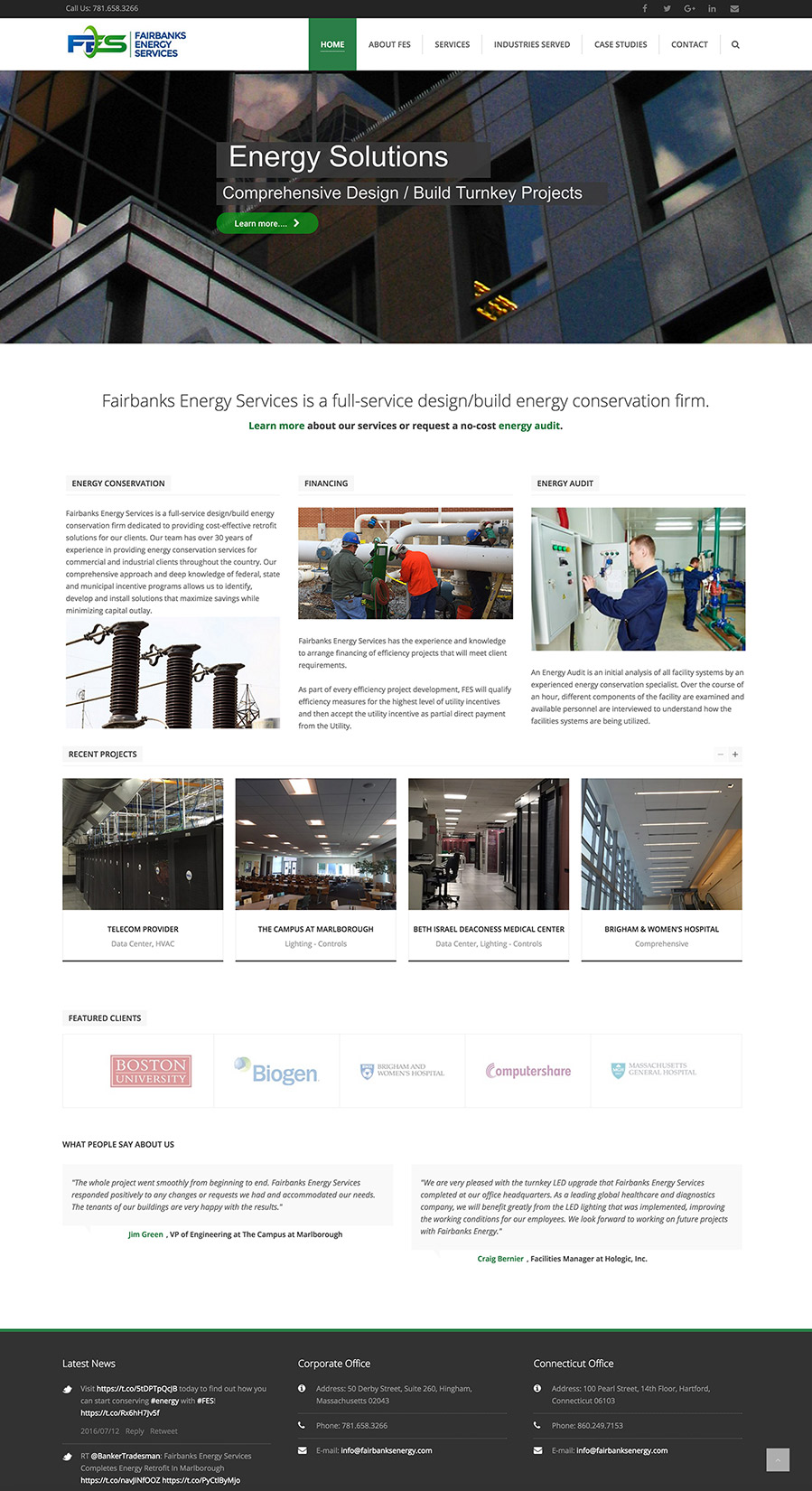 Fairbanks Energy Website